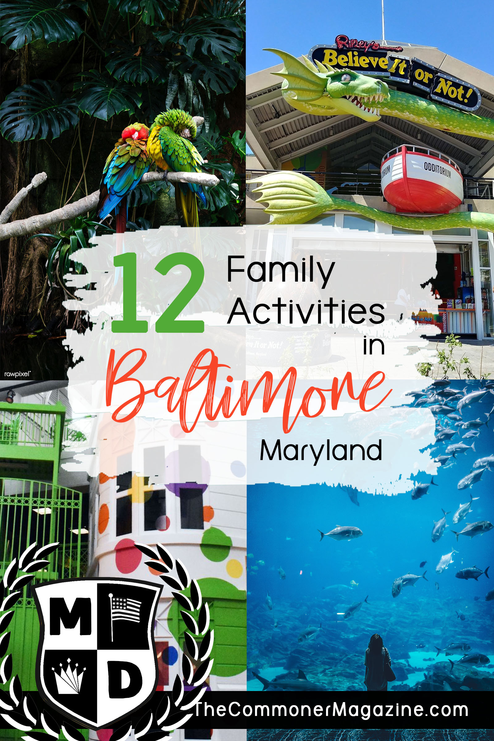 Looking for things to do in Baltimore? We've created a two-part series covering 12 fantastic, kid friendly activities for your next family vacation to Baltimore, Maryland. From museums to the National Aquarium, there's something to do in every season. The Commoner Magazine, full of USA travel tips from local experts. #Baltimore #Maryland #ThingstodoinBaltimore #NationalAquarium #USAtravel #Familytravel #travelwithkids #kidsactivities #USA #eastcoast #eastcoasttravel