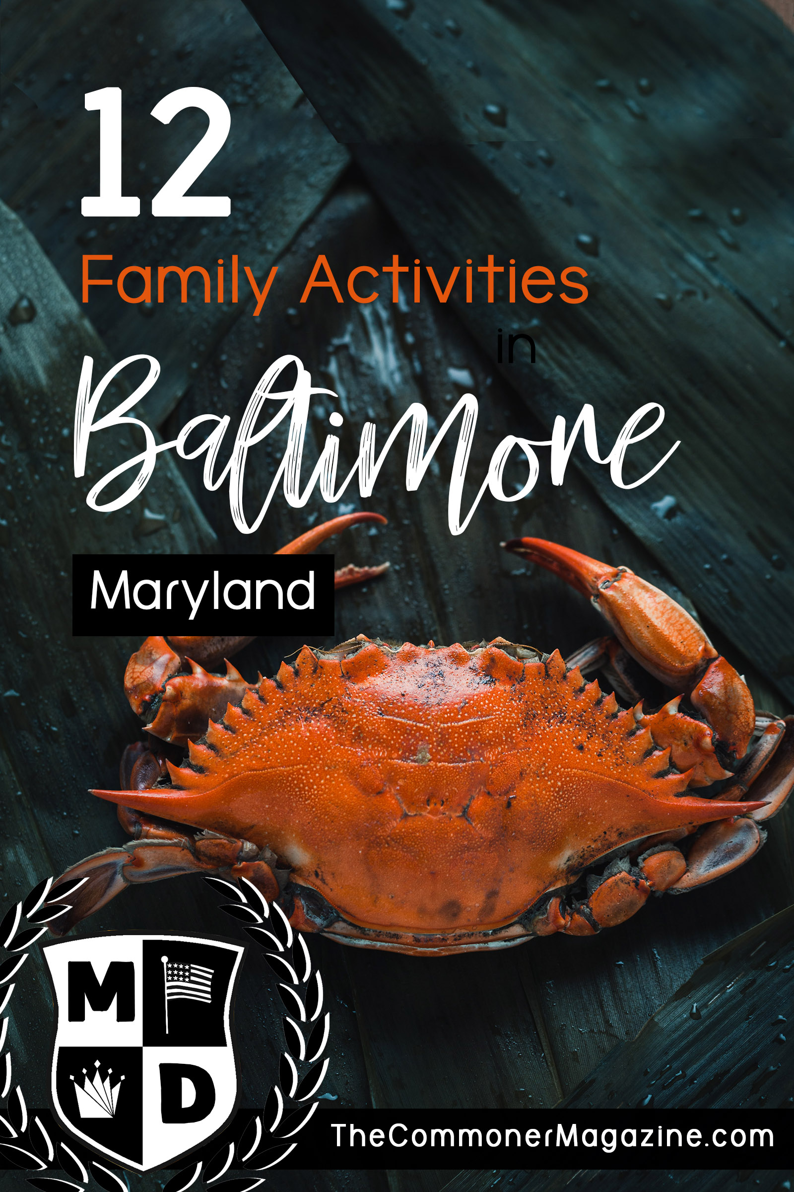 Looking for things to do in Baltimore? This is Part 2 of a series covering 12 fantastic, kid friendly activities for your next vacation to Charm City. From museums, the inner harbor and the National Aquarium, there's something to do in every season. The Commoner Magazine, full of USA travel tips from local experts. #BlueCrab #Baltimore #Maryland #ThingstodoinBaltimore #Washingtondaytrips #DCdaytrips #USAtravel #Familytravel #travelwithkids #kidsactivities #USAeastcoast #eastcoasttravel