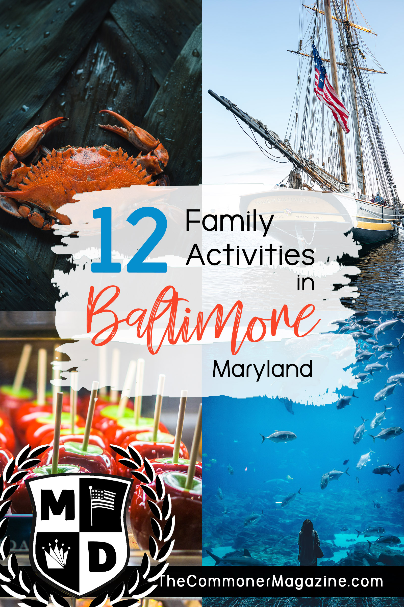 Looking for things to do in Baltimore? This is Part 2 of a series covering 12 fantastic, kid friendly activities for your next vacation to Charm City. From museums, the inner harbor and the National Aquarium, there's something to do in every season. The Commoner Magazine, full of USA travel tips from local experts. #Baltimore #Maryland #ThingstodoinBaltimore #Washingtondaytrips #DCdaytrips #USAtravel #Familytravel #travelwithkids #kidsactivities #USAeastcoast #eastcoasttravel