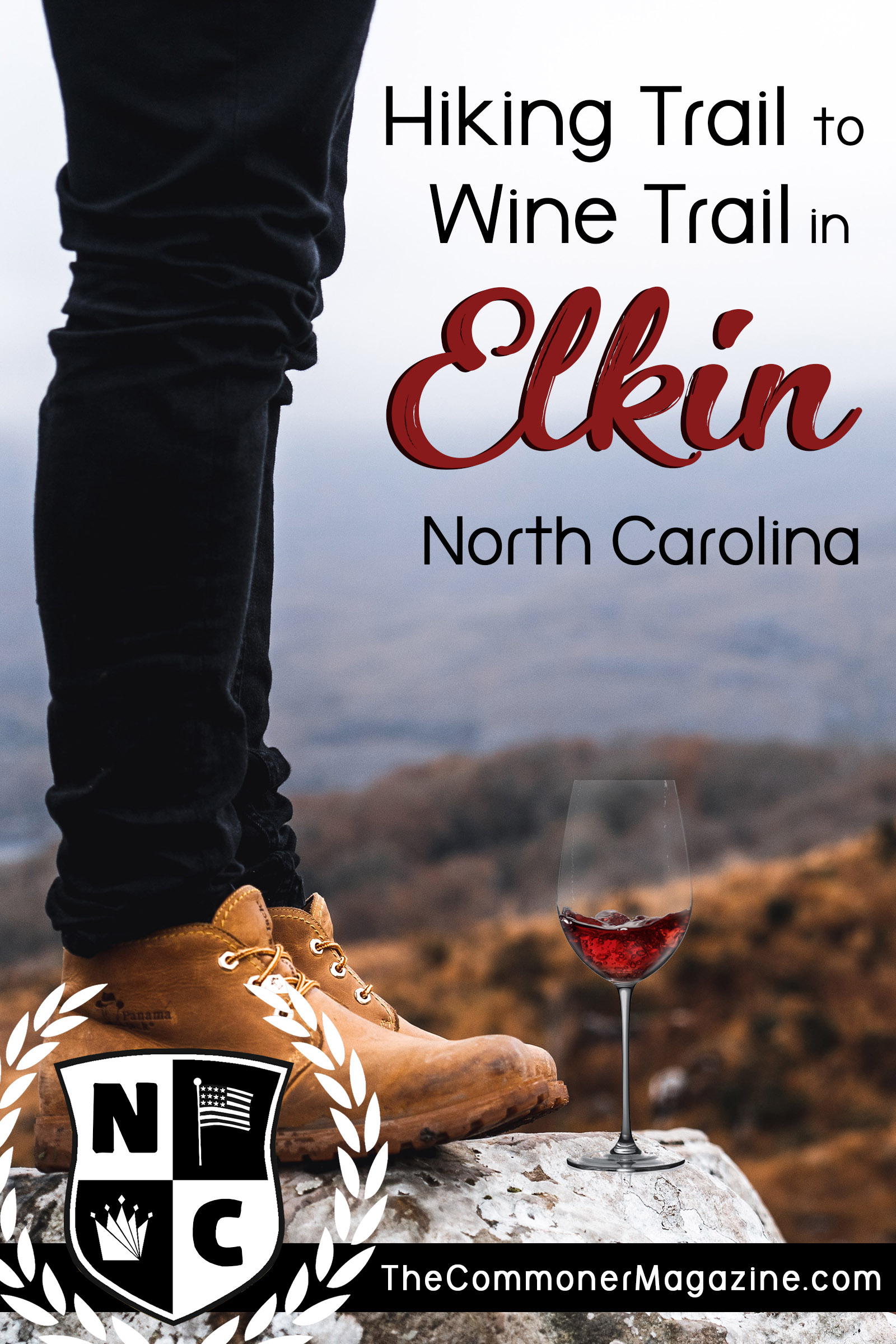 Go from the hiking trail to the wine trail in the Yadkin Valley in Western North Carolina. There's plenty of outdoor activities available no matter the season. If you prefer the indoors there's plenty of fine shopping and dining to be had in the historic town of Elkin. The Commoner Magazine, full of USA travel tips from local experts. #familytravel #USAtravel #NorthCarolina #Thingstodoinnorthcarolina #Elkin #ElkinNC #YadkinValley #Winetrail #NChiking #mountains